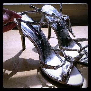 Nina silver and diamond stilettos